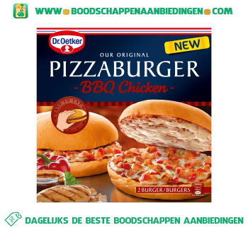 Dr. Oetker Pizzaburger bbq chicken aanbieding