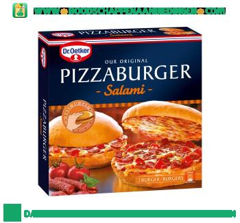 Dr. Oetker Pizzaburger salami aanbieding