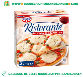 Dr. Oetker Ristorante piccola pizza mozzarella aanbieding