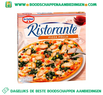Dr. Oetker Ristorante pizza pollo aanbieding