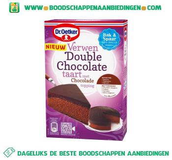 Dr. Oetker Verwen double chocolade taart aanbieding