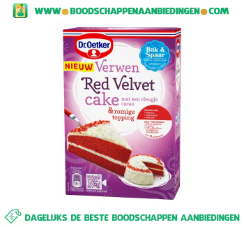 Dr. Oetker Verwen red velvet cake aanbieding