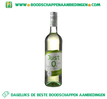 Duitsland Just 0 white wine alcoholfree aanbieding