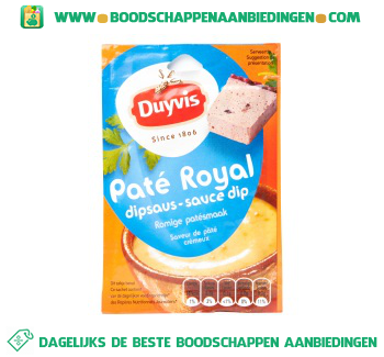 Duyvis Paté royal dipsaus aanbieding