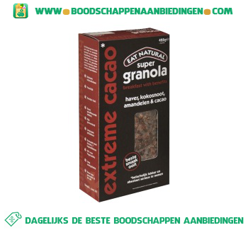 Eat Natural Super granola extreme cacao aanbieding