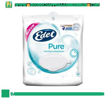 Edet Vochtig toiletpapier pure aanbieding