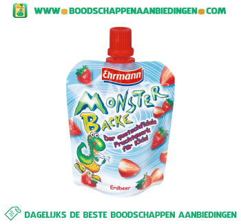 Ehrmann Monsterbacke slurpsnack aanbieding