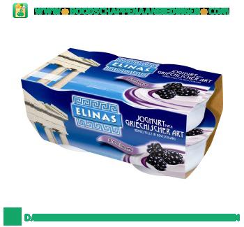 Elinas Yoghurt Griekse stijl bramen 4-pak aanbieding