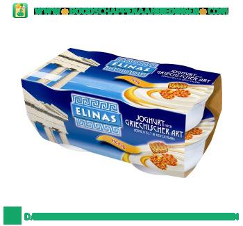 Elinas Yoghurt Griekse stijl honing 4-pak aanbieding