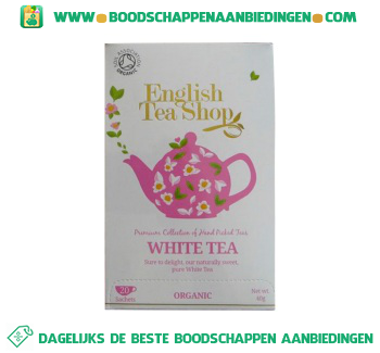 English Tea Shop White tea aanbieding