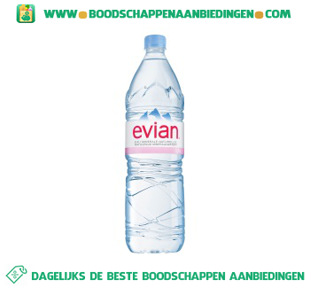 Evian Mineraalwater aanbieding