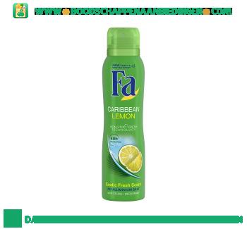 Fa Deospray caribbean lemon aanbieding