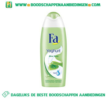 Yoghurt aloe vera cream bath aanbieding