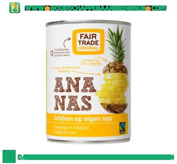 Fair Trade Original Ananasschijven op eigen sap aanbieding