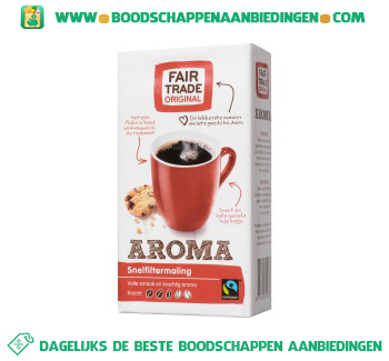 Fair Trade Original Aroma snelfiltermaling aanbieding