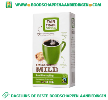 Fair Trade Original Biologische mild snelfiltermaling aanbieding