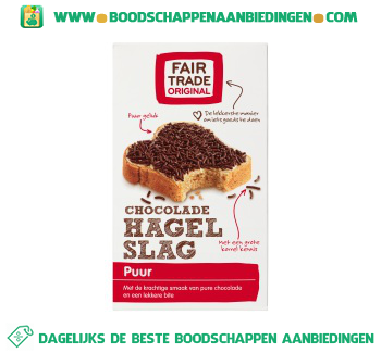 Fair Trade Original Chocoladehagelslag puur aanbieding