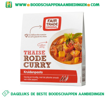Fair Trade Original Rode curry aanbieding