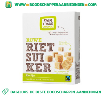 Fair Trade Original Ruwe rietsuikerklontjes aanbieding