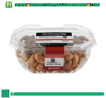 Faitrade cashewnoten gezouten aanbieding