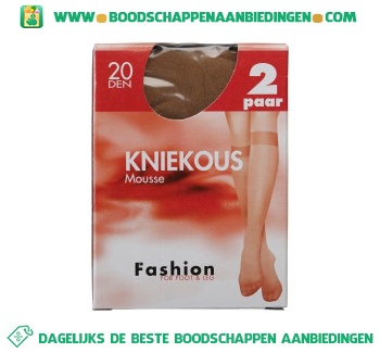 Fashion Kniekous mousse win 20 den aanbieding