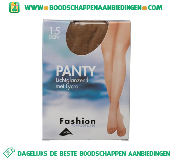 Fashion Panty lichtglans naturel 44/48 15 den aanbieding