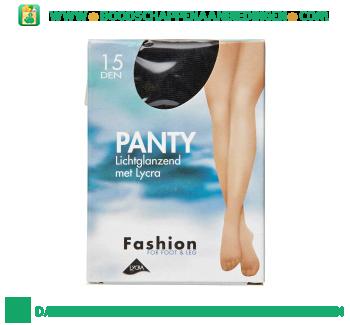 Fashion Panty lichtglans zwart 40/44 15 den aanbieding
