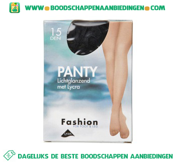 Fashion Panty lichtglans zwart 48/52 15 den aanbieding