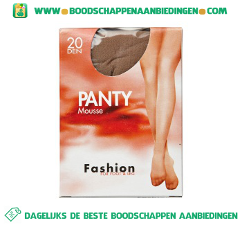 Fashion Panty mousse sky 44/48 20 den aanbieding