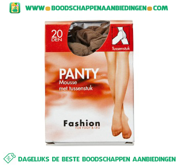 Fashion Panty mousse tst 48/52 20 den aanbieding