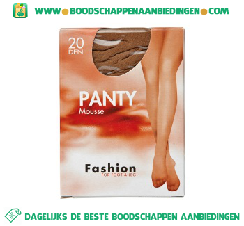 Fashion Panty mousse win 36/40 20 den aanbieding