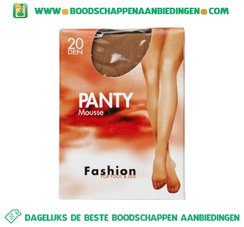 Fashion Panty mousse win 44/48 20 den aanbieding