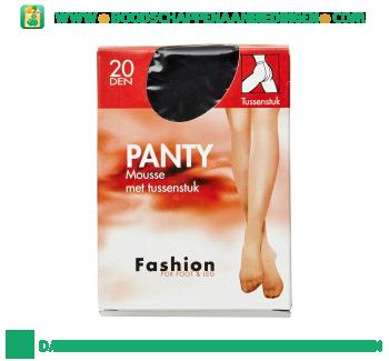 Fashion Panty mousse zwart 48/52 20 den aanbieding