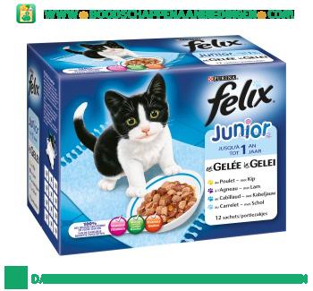 Felix Junior tot 1 jaar mix in gelei aanbieding