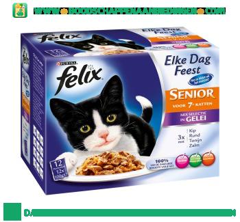 Felix Senior mix in gelei 12-pak aanbieding