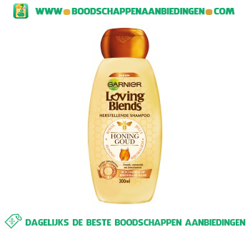 Garnier Loving Blends Shampoo honing en bijenbalsem aanbieding