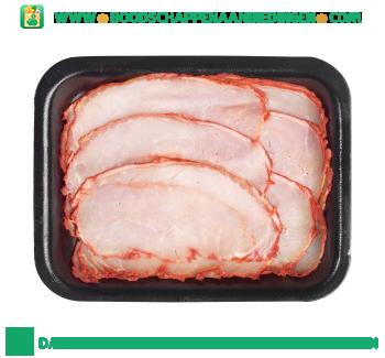 Gebraden bacon gesneden aanbieding