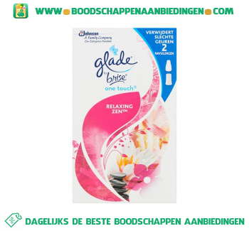 Glade by Brise One touch relaxing zen navul aanbieding