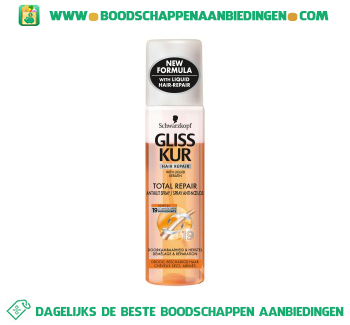 Gliss Kur Anti klit spray total repair aanbieding