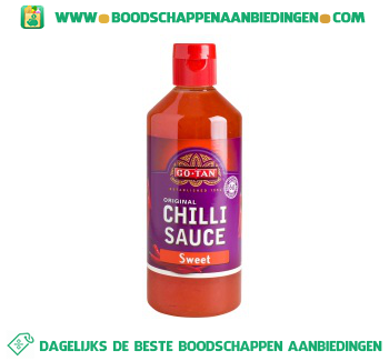 Go-Tan Chilli sauce sweet aanbieding