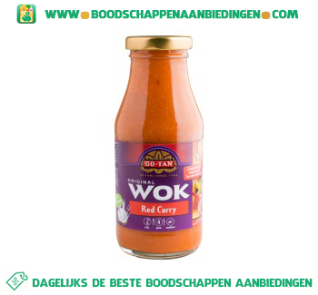 Go-Tan Woksaus red curry aanbieding