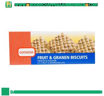 Gooskens Fruit & granen biscuits aanbieding