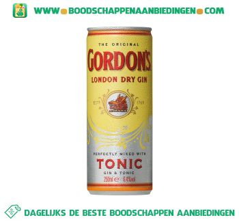 Gordon Gordon`s gin & tonic aanbieding
