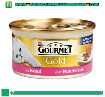 Gourmet Gold fijne mousse met rundvlees aanbieding