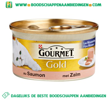 Gourmet Gold fijne mousse met zalm aanbieding