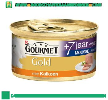Gourmet Gold mousse senior met kalkoen aanbieding