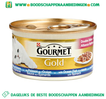 Gourmet Gold zeevis & spinazie aanbieding