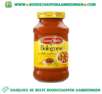 Grand'Italia Pastasaus bolognese aanbieding