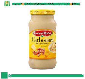 Grand'Italia Pastasaus carbonara aanbieding