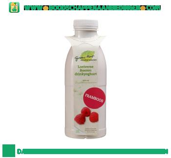 Groene Hart Loeiverse boeren drinkyoghurt framboos aanbieding